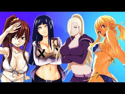 Hinata & Ino Versus Erza & Lucy!!! #TeamNaruto👯 VS #TeamFairyTail👯 Waifu Wars thumbnail