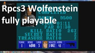 RPCS3 PS3 Emulator Wolfenstein 3D fully playable ingame + settings