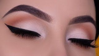 Bridal Eye Makeup | Soft Cut Crease and Black Winged Liner