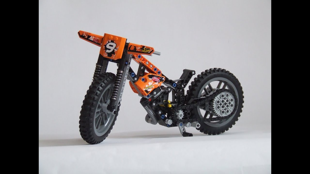 lego technic 42007 moto cross bike b model review youtube. Black Bedroom Furniture Sets. Home Design Ideas