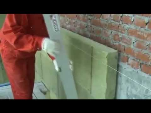 Видео как утеплить стены
