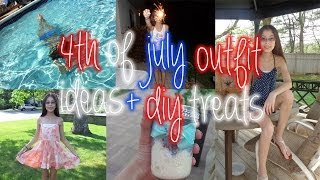 4th of july outfit ideas+ easy diy treat