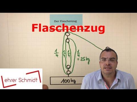 Flaschenzug - lose Rolle - feste Rolle   Physik - Mechanik   Lehrerschmidt