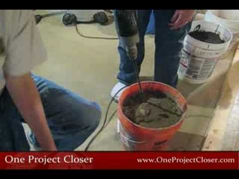 How To Mix Self Leveling Mortar Cement Youtube