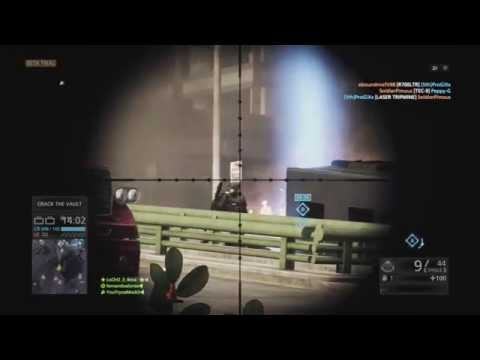BATTLEFIELD: HARDLINE GAMEPLAY BETA PS4 SNIPER HEADSHOT