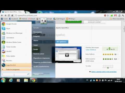 Cómo descargar e instalar OpenOffice en Windows 7
