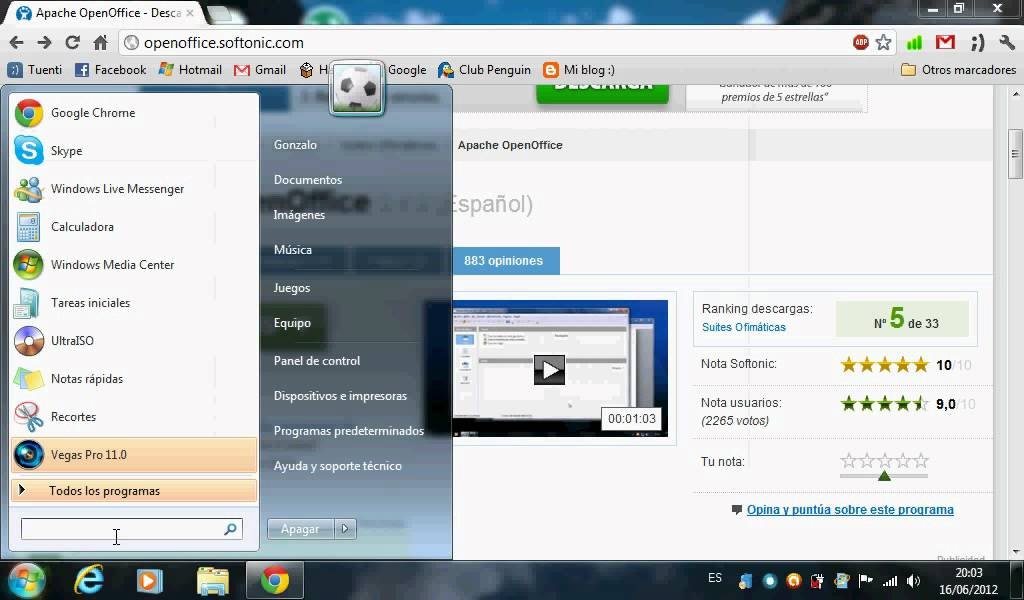 C mo descargar e instalar openoffice en windows 7 youtube - Open office windows 7 gratuit francais ...