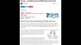 7 Figure Cycle Review - Does 7 Figure Cycle Really Work?