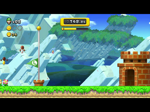New Super Mario Bros U Wii U - Boost Rush Mode #3
