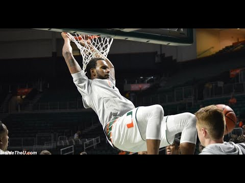 Watch the 13th-ranked Miami Hurricanes go through the pregame layup line before their exhibition game against Newberry College on Nov. 1, 2017.