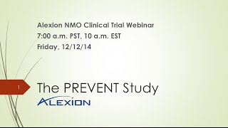 Alexion Pharmaceuticals : NMO Clinical Trial Update Webinar