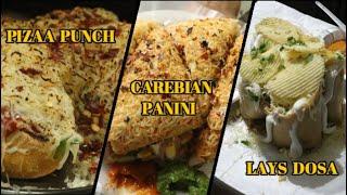 LAYS CHEESE MAYO DOSA | Cheese Panipuri | Carebian Panini | Indian street food