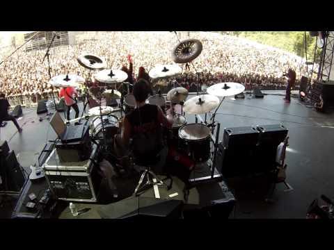 Bruno Valverde Drum Cam - Spread your Fire - Angra at Hellfest - France