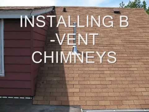 Installing B-Vent Chimneys