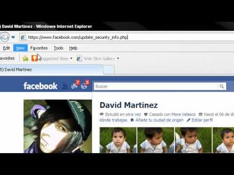 verificar cuenta facebook y nombre de ususario MEXICO