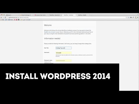 How to Install WordPress 2014 in cPanel with WP 3.9