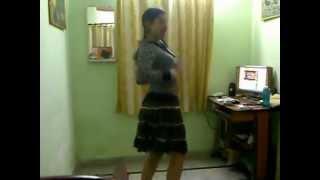 O Radha Tera Challa Dancing at Home By A Indian Girl