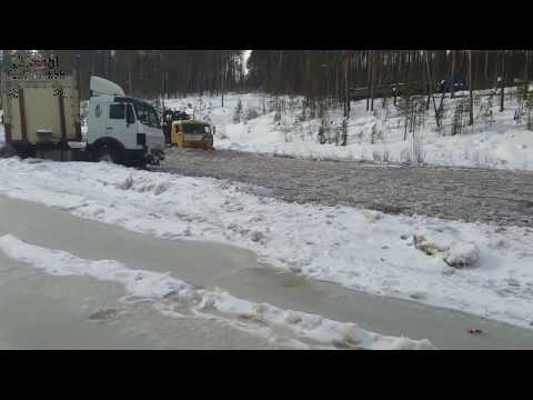 ОПАСНЫЕ ДОРОГИ СЕВЕРА РОССИИ  Winter roads of Russia