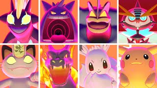 Pokémon Sword & Shield - All Gigantamax Pokémon & Shiny Forms