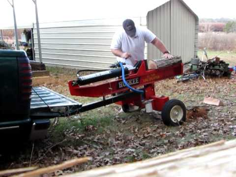huskee 22 ton log splitter