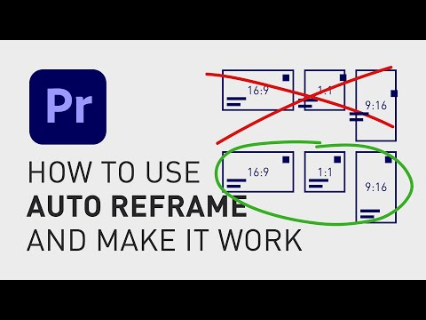 How to use auto reframe in Adobe Premiere Pro