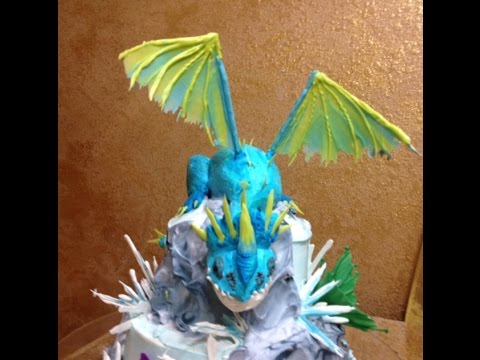 Cake Design Dragon Trainer : Dragon in Buttercream- Short Version- Cake Decorating- How ...