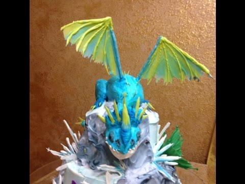 Dragon in Buttercream- Short Version- Cake Decorating- How ...
