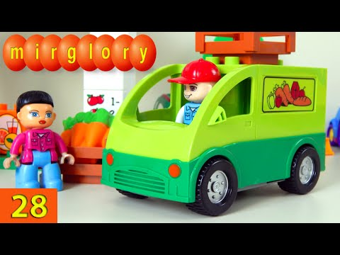 Машинки мультфильм - Город машинок - 28 серия: Доставка продуктов. Развивающие мультики