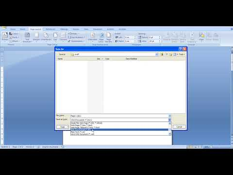 Understanding different file types with Word