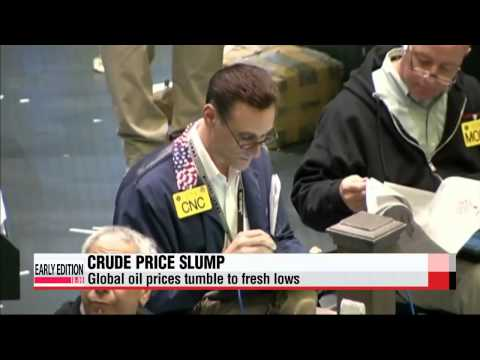 Global markets fall as oil prices tumble to fresh lows   주요 증시 대부분 하락…유가급락, 그리스