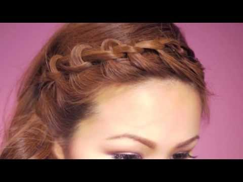 Easy Knotted Bangs Hair Tutorial