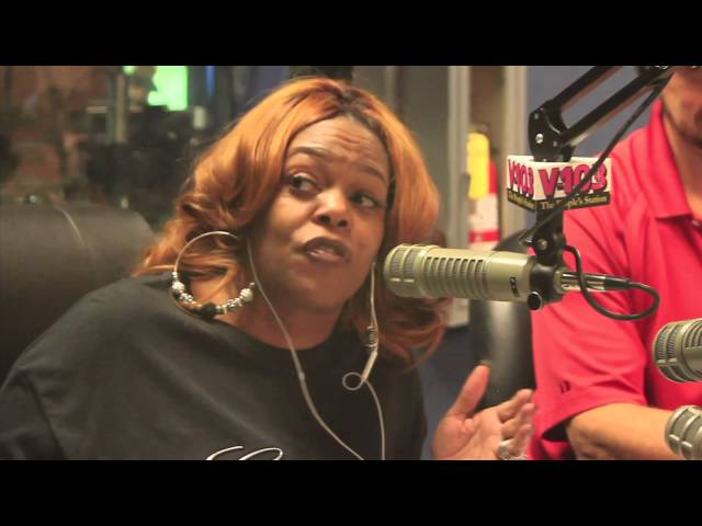 OFF THE AIR FOOTAGE of Cadillac Kimberly on the Ryan Cameron Morning Show on V103