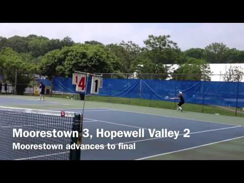 Moorestown at Group 3 boys tennis championships 5/22/13