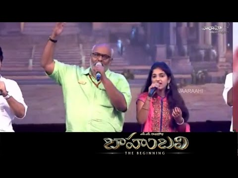 Keeravani Song Live Performance - Baahubali Title Song - Audio Launch Live
