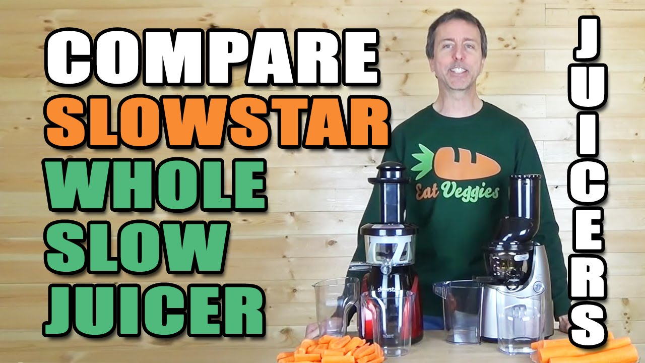 Comparison Kuvings Whole Slow Juicer B6000S & Slowstar SW-2000 - YouTube