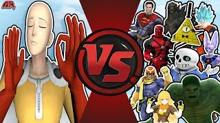 One Punch Man VS The World (Saitama vs Goku, Beerus, Superman, Hulk, Bill Cipher Sans) OPM Animation