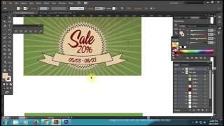 [Học Illustrator] Thiết kế BANNER SALE Part1 - Tạo nền Banner