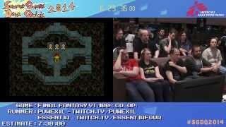 SGDQ 2014 - Final Fantasy VI Speedrun (Glitchless 100%)