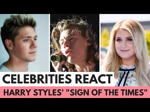 "Celebrities React to Harry Styles' ""Sign of the Times"""