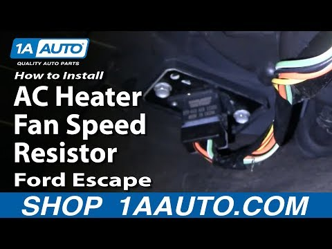 How To Install Replace AC Heater Fan Speed Resistor Ford Escape 01-04 1AAuto.com