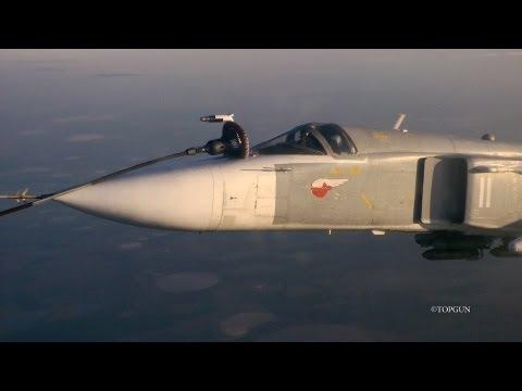 Дозаправка МиГ-31 и Су-24 в воздухе