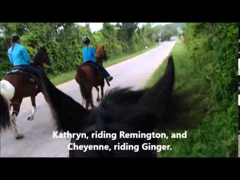 Riding our horses to church on Palm Sunday, 2014