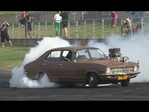 Blown LC Torana YNOT blown 6 banger burnout at Brasher Nats 2013
