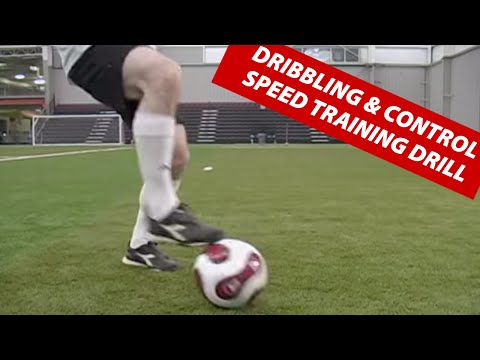 Soccer Football Dribbling and Control Speed Ball Training Drill