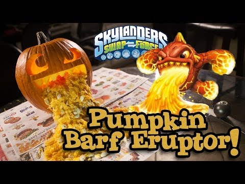 PUMPKIN BARF ERUPTOR - Skylanders Swap Force PUMPKIN CARVING - Halloween 2013