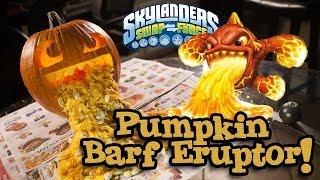 PUMPKIN BARF ERUPTOR - Skylanders Swap Force PUMPKIN CARVING - Halloween 2013