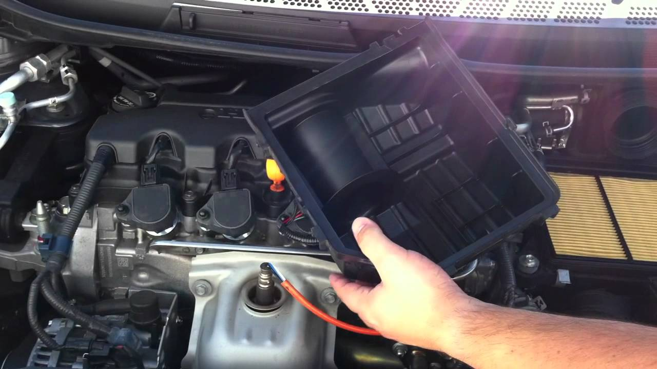 how to change honda civic engine air filter 8th gen 2006