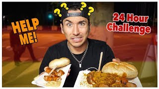 Only Eating Foods I CAN'T Pronounce For 24 HOURS! (Impossible Food Challenge))