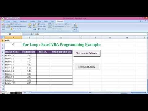 Excel VBA Programming - For Loop in Excel