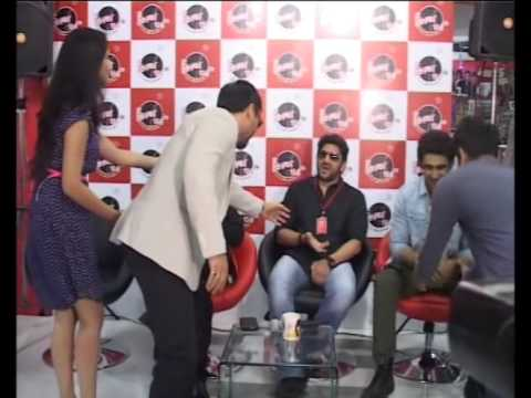Stars of upcoming Bollywood flick take to a radio station to promote the film